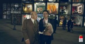 小勞勃道尼為宏達電拍攝代言廣告片段。